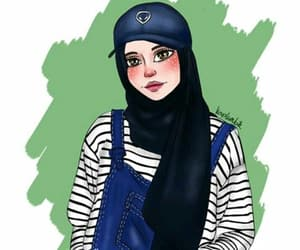art, cool, and hijab image
