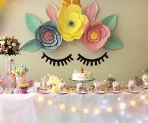 birthday, decor, and unicorn image