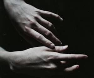 hands, dark, and grunge image