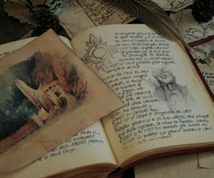 bookish, calligraphy, and drawing image
