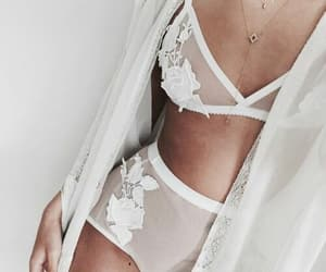 lace, white, and underwear image