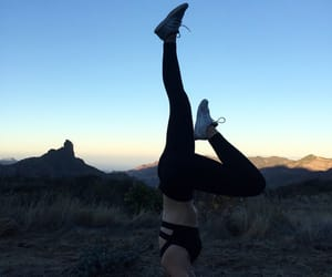 fit, fitness, and headstand image