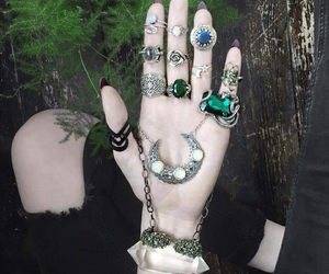rings, crystal, and grunge image