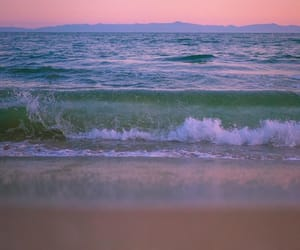ocean, nature, and pastel image