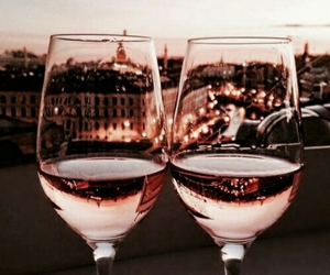 drink, wine, and city image