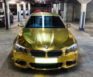 bmw, car, and gold image