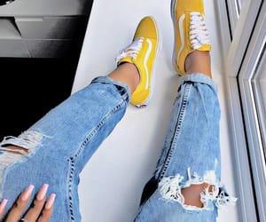 vans, yellow, and fashion image