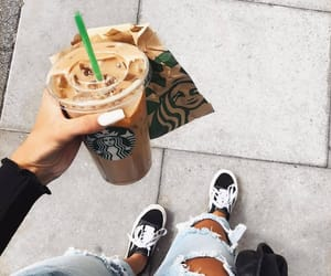 coffee, starbucks, and fashion image