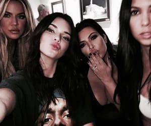 kendall jenner, khloe kardashian, and kim kardashian image