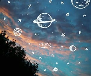planets, stars, and sky image