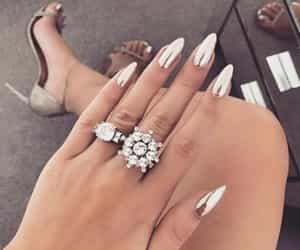 diamond, gold, and nail art image