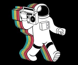 music, space, and astronaut image