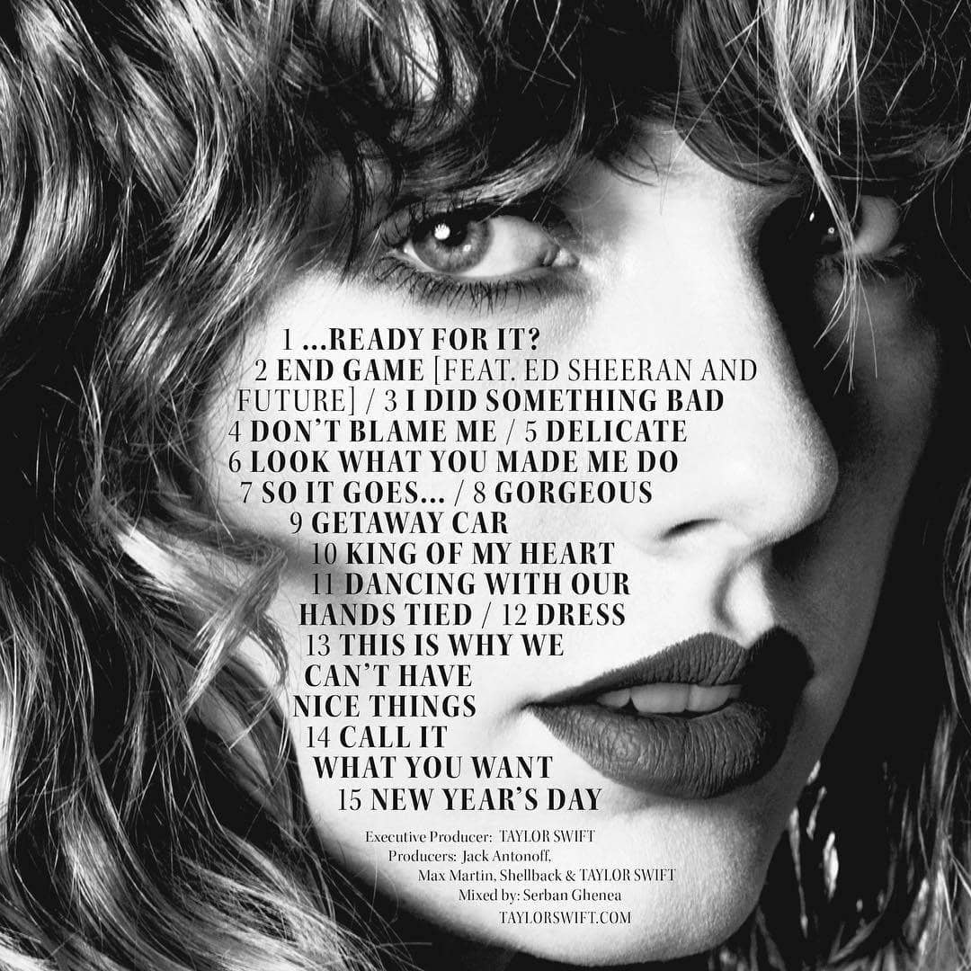 Reputation, Taylor Swift, and song image