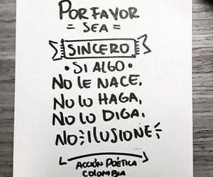 frases en español, no ilusiones, and se sincero image