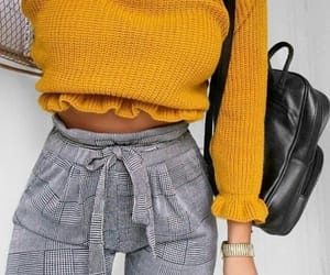 fashion, outfit, and yellow image