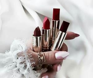 lipstick, makeup, and nails image