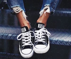converse, fashion, and jeans image
