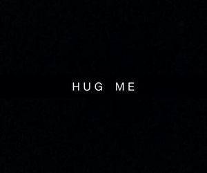 hug, black, and quotes image