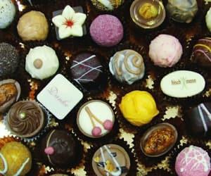 cherry, chocolates, and flower image