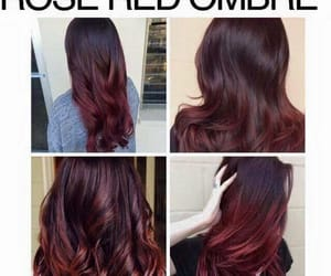 hairstyle, haircolor, and roseredombre image
