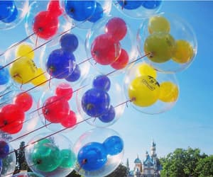 balloon, blue, and disney image