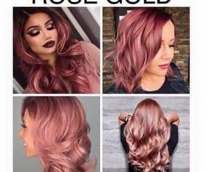 haircolor, rosegold, and hairstyle image