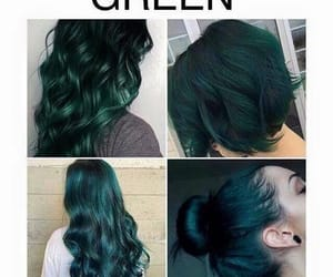 green, hairstyle, and haircolour image
