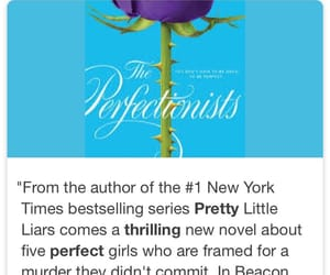 book, sara shepard, and the perfectionists image