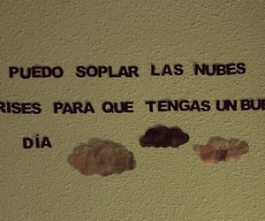 clouds, song, and frases image