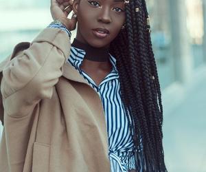 beautiful, black, and women image