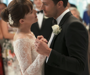 christian grey, fifty shades freed, and wedding image