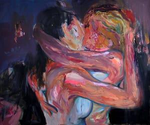 art, kiss, and lesbian image