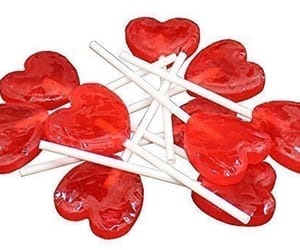 hearts, lollipop, and red image