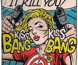 pop art, bang, and kiss image