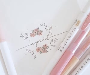 pink, soft, and art image