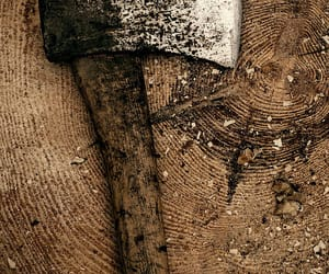 ax, brown, and wood image