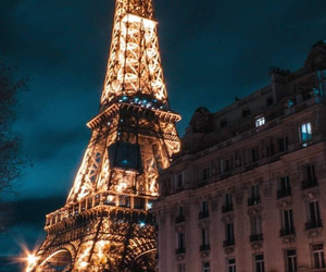 background, beautiful, and eiffel tower image