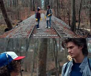 stranger things, amor, and frases image