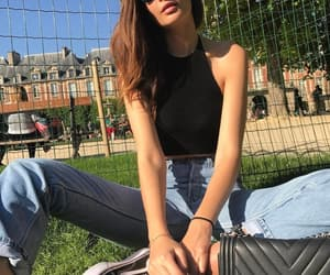 chill, style, and woman image