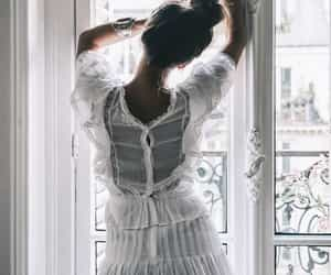 white, dress, and romantic image