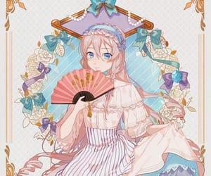 anime girl, blond hair, and ia image