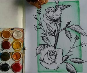 art, roses, and make art image