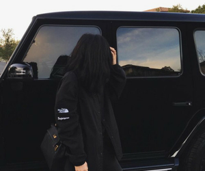 black, kylie jenner, and car image