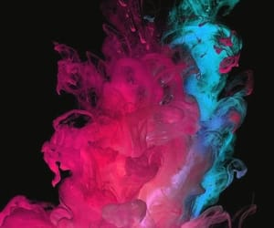 blue, pink, and smoke image