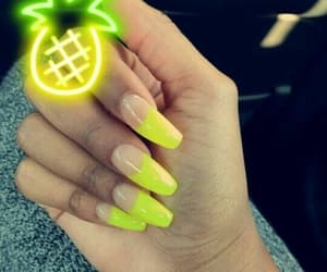 lit, nails, and pineapples image