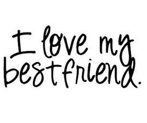 love, friends, and text image