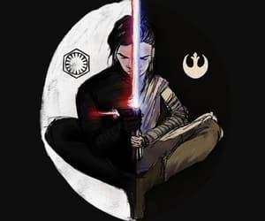 star wars, kylo ren, and rey image