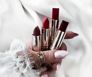 lipstick, makeup, and nails image