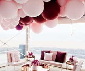 pink, balloons, and home image