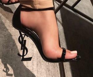 black, designer, and shoes image